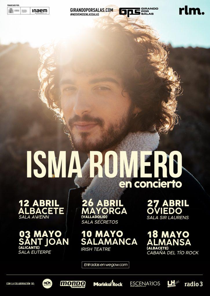 Cartel de gira Isma Romero